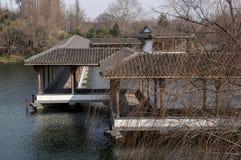 Hangzhou West Lake Scenic Area. Lake antique Bridges of Hangzhou West Lake Scenic Area, winter, Zhejiang province, China Stock Images