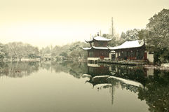 Hangzhou west lake snow Royalty Free Stock Image