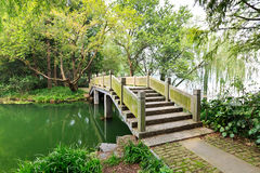 Hangzhou west lake stone arch bridge Royalty Free Stock Photo