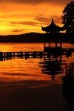 Hangzhou West Lake sunset Stock Photos