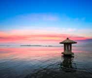 Hangzhou west lake in sunset Stock Photography