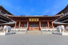 Hangzhou Xiangji Temple Building scenery,in china Stock Image