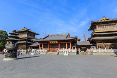 Hangzhou Xiangji Temple Building scenery,in china Royalty Free Stock Image