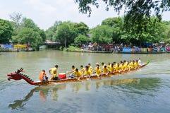 Hangzhou xixi het ras van de de Draakboot van het moerasland, in China Stock Foto's