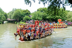 Hangzhou xixi het ras van de de Draakboot van het moerasland, in China Royalty-vrije Stock Foto