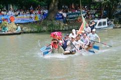 Hangzhou xixi het ras van de de Draakboot van het moerasland, in China Stock Fotografie