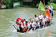 Hangzhou xixi het ras van de de Draakboot van het moerasland, in China Stock Afbeeldingen
