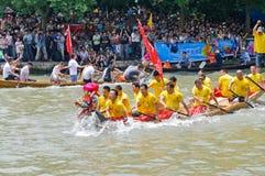 hangzhou xixi wetland Dragon boat race,in China stock photos