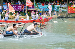 hangzhou xixi wetland Dragon boat race,in China Stock Photos