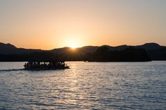 Hangzhou zachodni jezioro w zmierzchu obraz stock