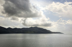 Hani I Hotit Lake Shkoder albacoren royaltyfria foton
