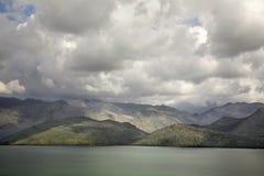 Hani I Hotit Lake Shkoder albacoren arkivbilder
