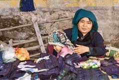 Hani Mädchen und Mutter Stockfotos