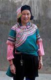 Hani woman in national clothes, China Royalty Free Stock Images
