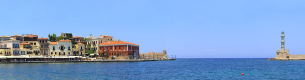 Hania harbour entrance Royalty Free Stock Images