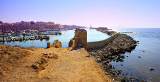Hania harbour and town Royalty Free Stock Images