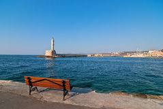 Hania lighthouse. Royalty Free Stock Images