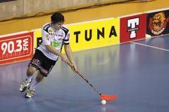hanic spelare för dominik floorball royaltyfri bild