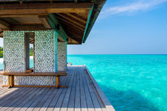 Hanimaadhoo, de Maldiven Stock Foto