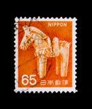 Haniwa Antyczny Gliniany konia, faun, flor i dziedzictwa kulturowego seria około 1967, Zdjęcia Stock