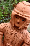 Haniwa Doll. Japanese Haniwa Doll in a garden Royalty Free Stock Photo