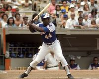 Hank Aaron Atlanta Braves imágenes de archivo libres de regalías