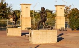 Hank Aaron Statue. Atlanta Braves legend Hank Aaron`s Statue in Turner Field Royalty Free Stock Photos