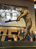 Hank Aaron Statue. A bronze statue dedicated to Henry Aaron is displayed at Sun Trust Park in Atlanta, GA Stock Photos