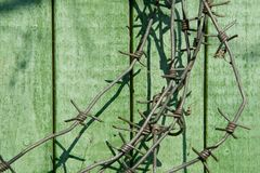 Hank of barbed wire Royalty Free Stock Image