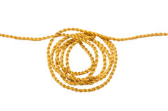 Hank of a gold cord Royalty Free Stock Images