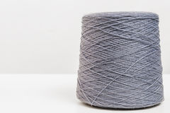 Hank of gray woolen threads closeup Royalty Free Stock Image