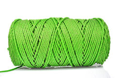 Hank of green rope Stock Photos