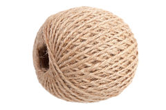 Hank hemp twine beige Royalty Free Stock Photos