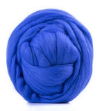 Hank merino wool blue stock image