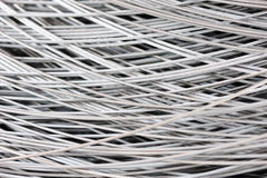 Hank of metal wire background Stock Image
