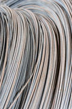 Hank of metal wire background Stock Photo