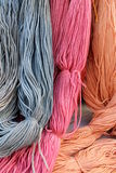 Hank wool. As colorful background stock photography