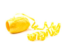 Hank of yellow ribbon Stock Photography