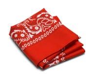 Hankerchief dobrado vermelho Foto de Stock Royalty Free
