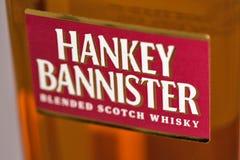 Hankey Bannister blended Scotch Whisky closeup. KIEV, UKRAINE - DECEMBER 25, 2018: Hankey Bannister blended Scotch Whisky closeup. Founded in 1757 Hankey stock image