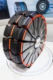 从Hankook的车轮概念在IAA 2015年 库存照片