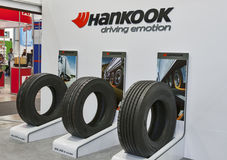 Hankook tires booth Royalty Free Stock Image
