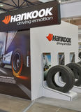 Hankook tires booth Stock Photos