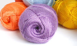 Hanks  of different  colored  yarn. For knitting Royalty Free Stock Photos