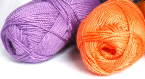Hanks  of different  colored  yarn f. Or knitting Stock Photography