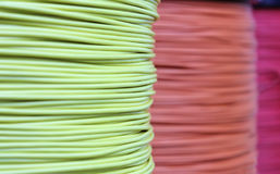 Hanks of multi-colored cords Stock Photo