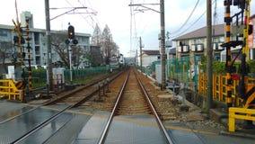 Hankyu-Eisenbahn Mino Stockfotografie