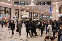 Hankyu stacja Obraz Royalty Free