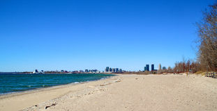 Hanlan& x27; playa del punto de s foto de archivo