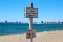 Hanlan& x27; playa del punto de s imagen de archivo libre de regalías